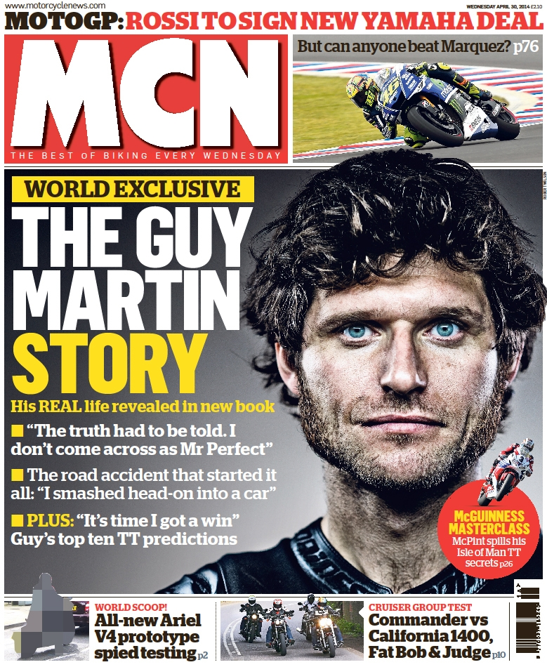Guy Martin MCN Cover April 2014