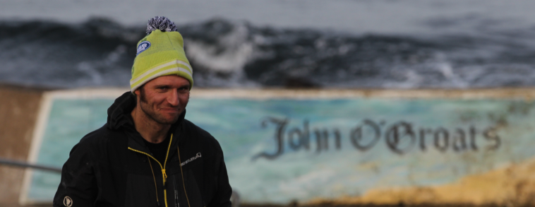 Guy Martin at John O'Groats